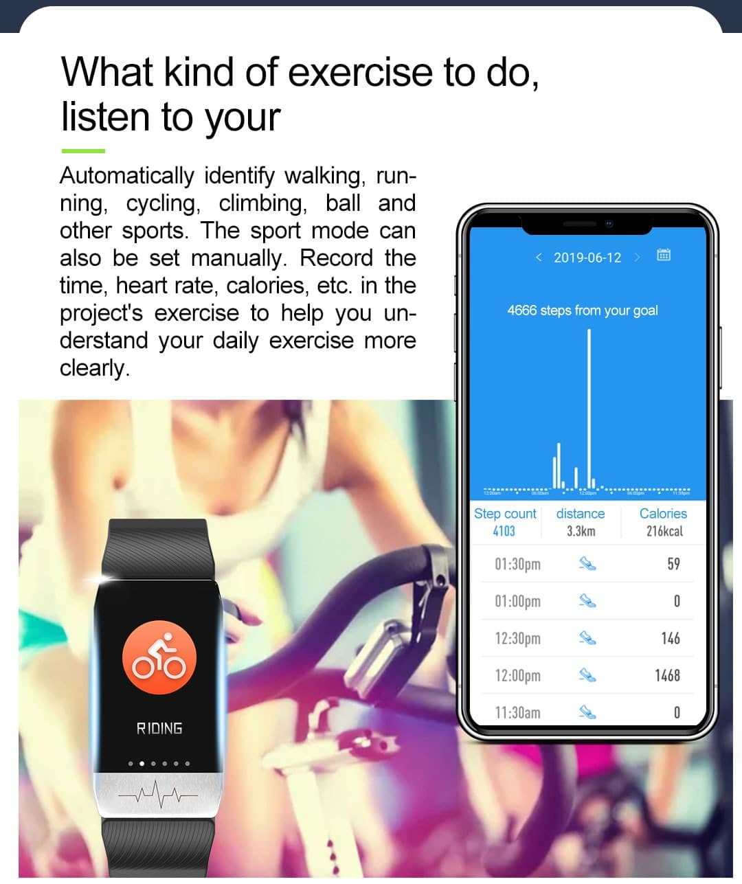 Smart Watch Medical Tracker Concept T1