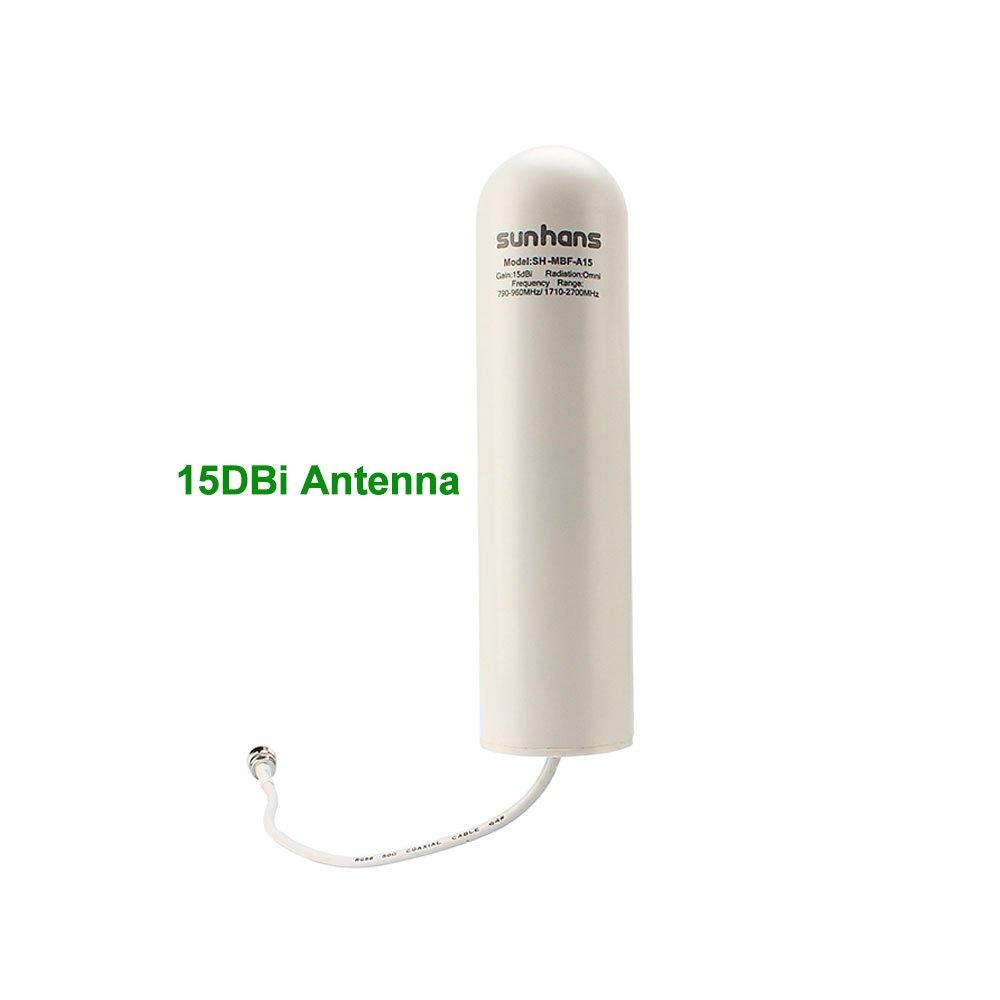 Sunhans 790-2700MHz 15dBi 3G 4G LTE Omnidirezionale Antenna In Fibra di vetro Per CDMA GSM WCDMA Del Telefono Cellulare ripetitore del segnale Del Ripetitore