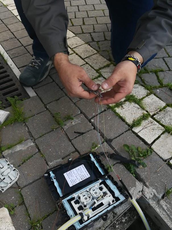Riparazione manutenzione guasti fibra ottica Roma
