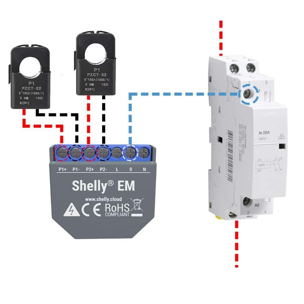 installazione shelly em controllare consumi elettrici