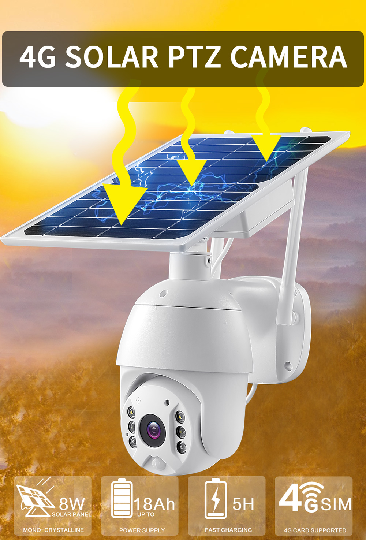 Videocamera Energia Solare Batteria 4G LTE IP66